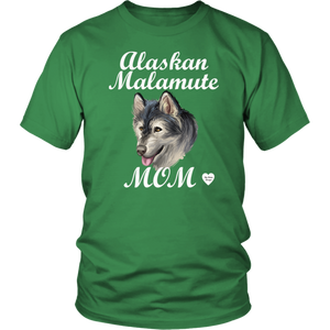 Alaskan Malamute Mom T-Shirt Kelly Green