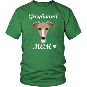 greyhound mom kelly green t-shirt