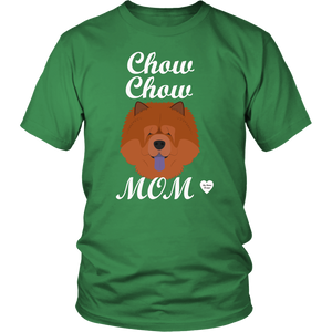 chow chow mom t-shirt kelly green