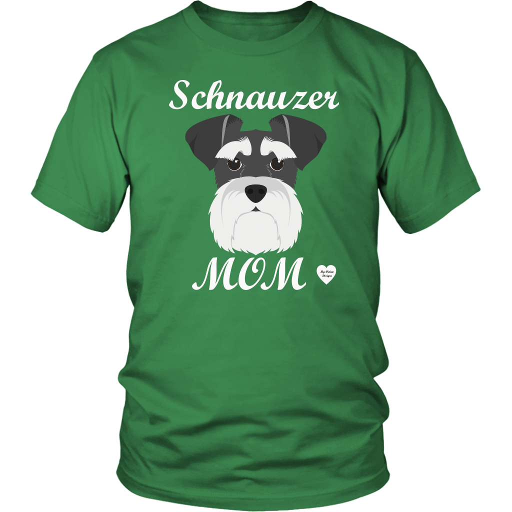 Schnauzer Mom kelly green t-shirt