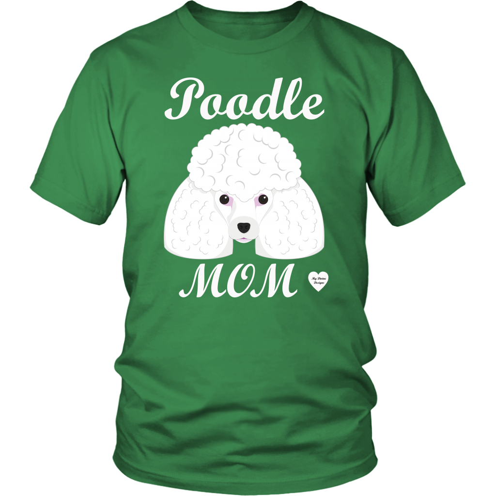 Poodle Mom kelly green t-shirt