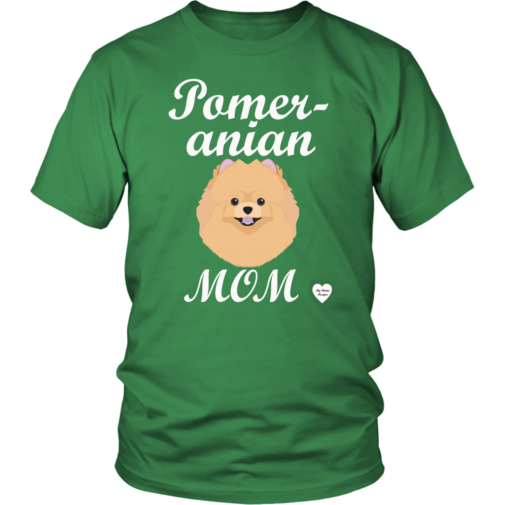 pomeranian mom t-shirt kelly green