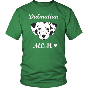 dalmatian mom t-shirt kelly green