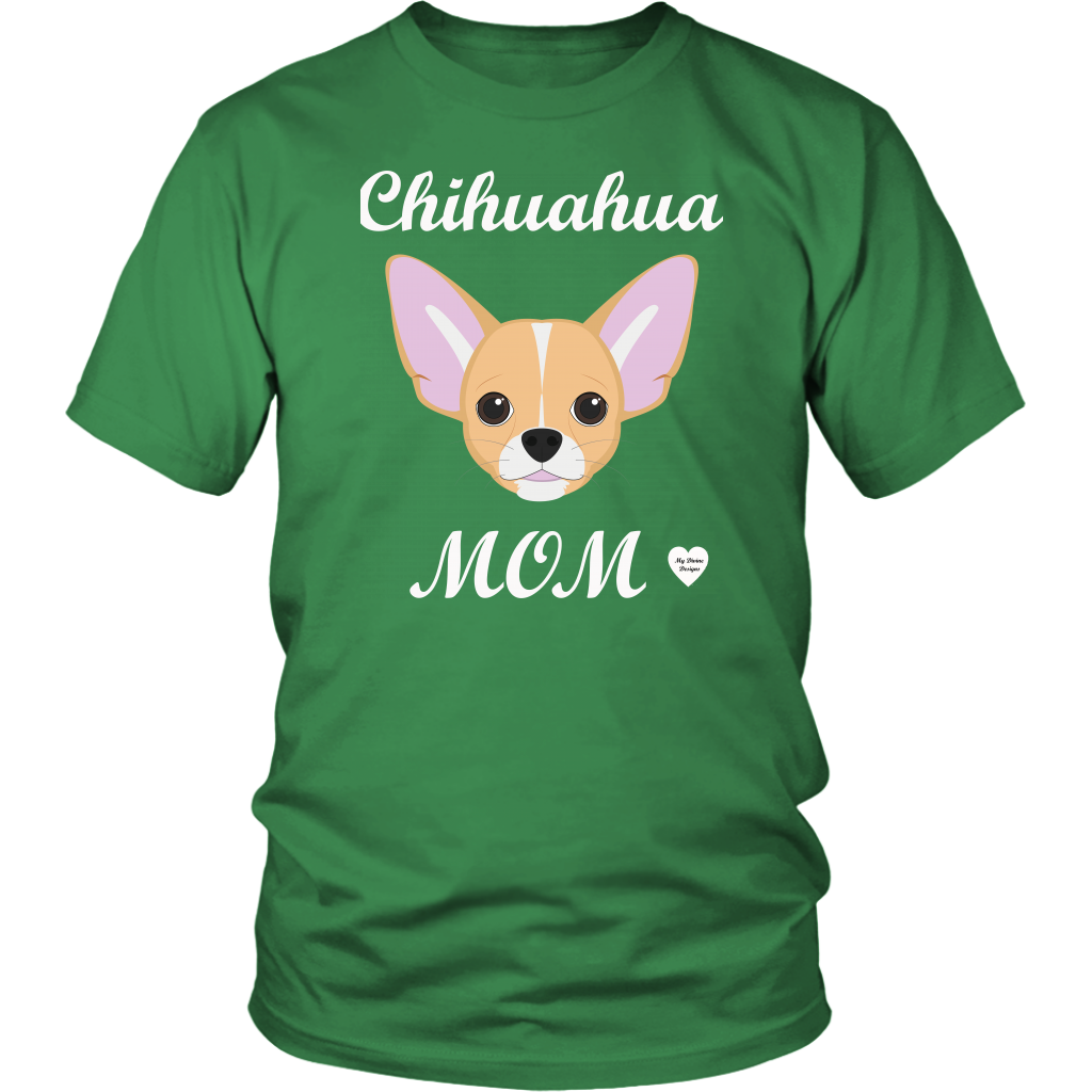 chihuahua mom kelly green t-shirt