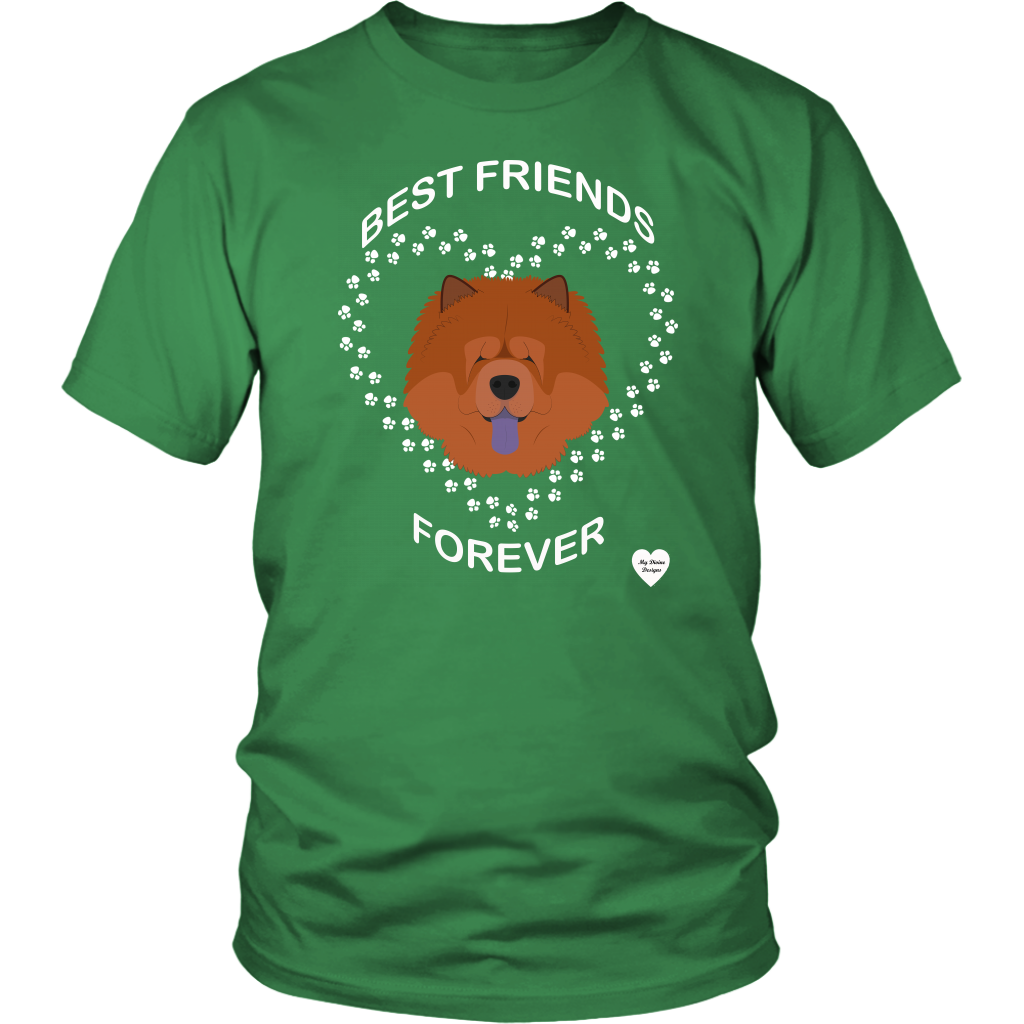 Chow Chow Best Friends Forever T-Shirt Kelly Green