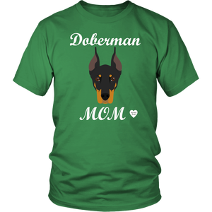 doberman mom kelly green t-shirt