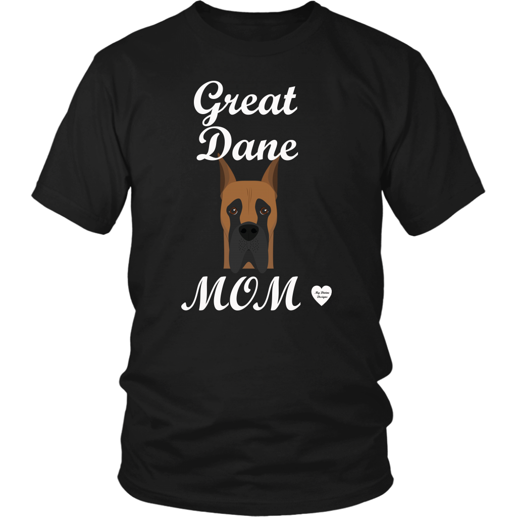 great dane mom black t-shirt