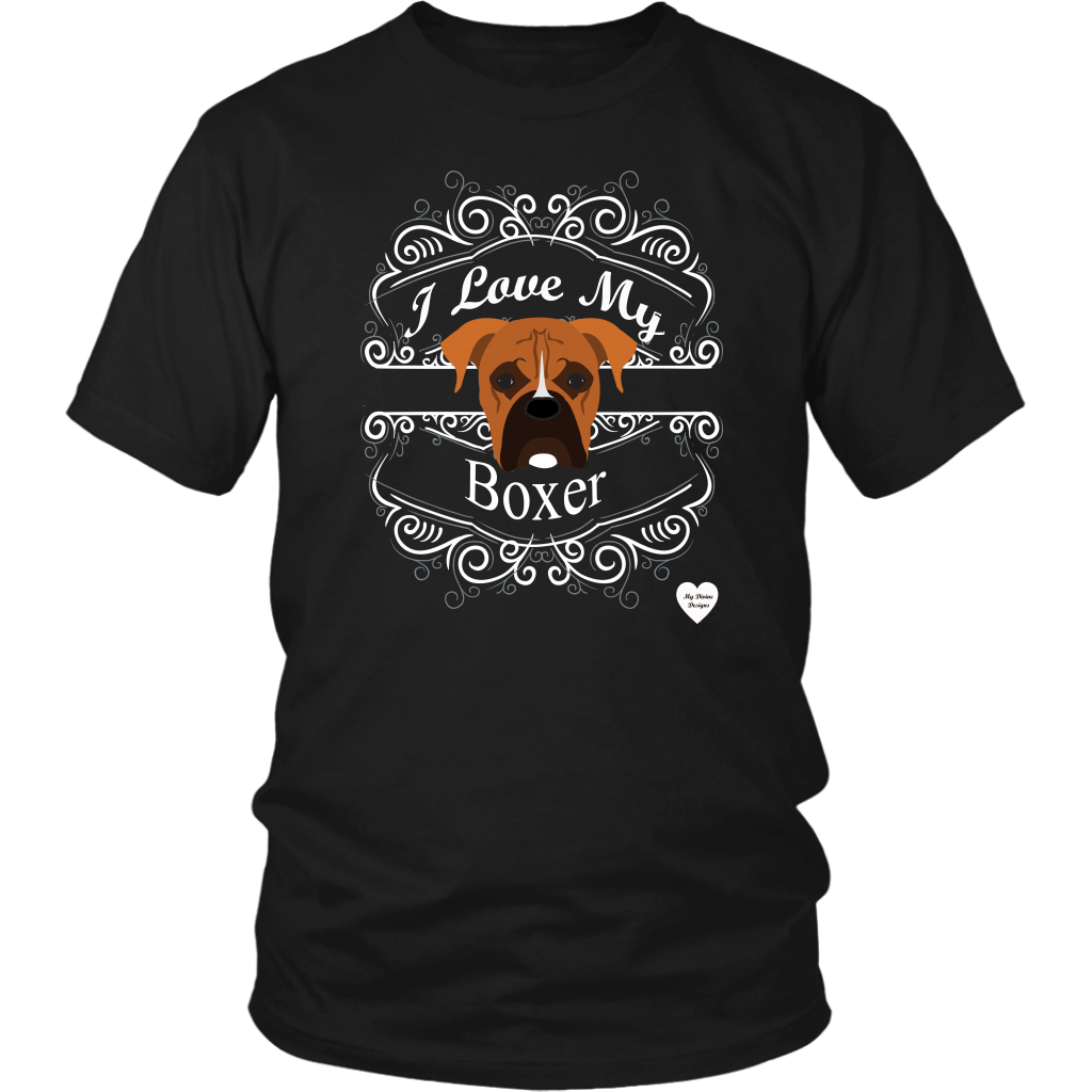 I Love My Boxer T-Shirt Black