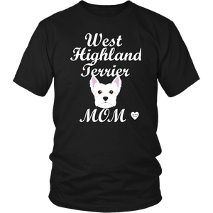 west highland terrier t-shirt black