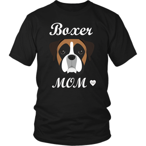 boxer mom black t-shirt