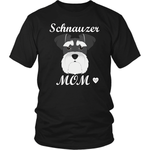 Schnauzer Mom black t-shirt