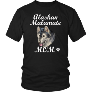Alaskan Malamute Mom T-Shirt Black