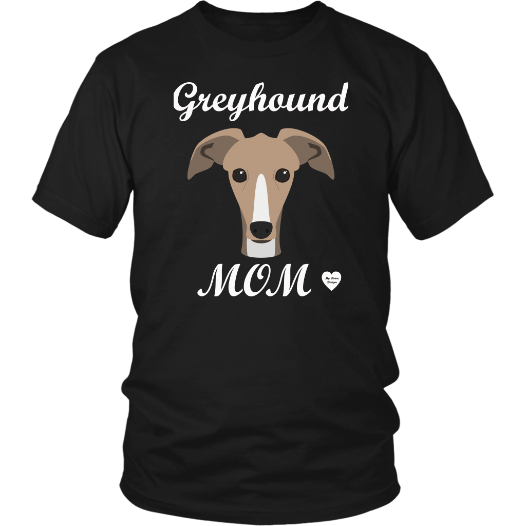 greyhound mom black t-shirt