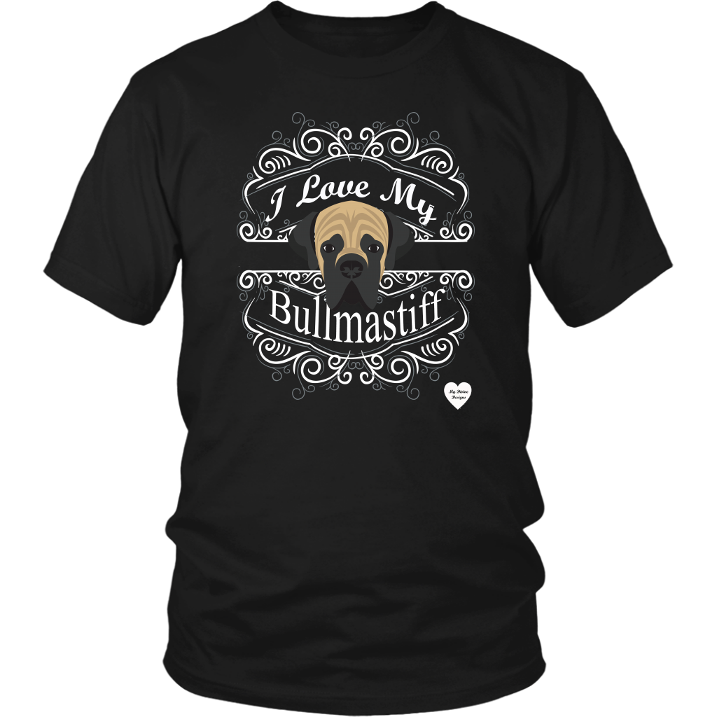 I Love My Bullmastiff T-Shirt Black
