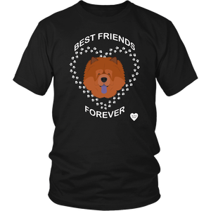 Chow Chow Best Friends Forever T-Shirt Black