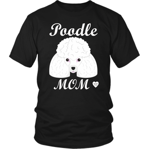 Poodle Mom black t-shirt