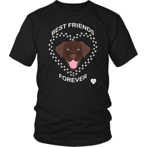 Chocolate Lab Best Friends Forever T-Shirt Black