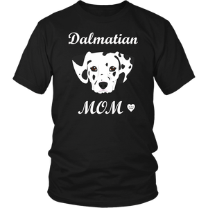 dalmatian mom t-shirt black