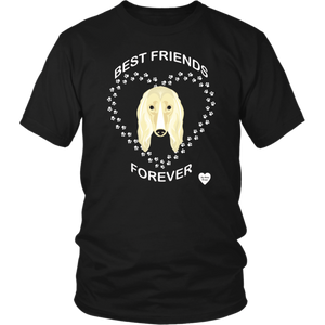 Afghan Hound Best Friends Forever T-Shirt Black