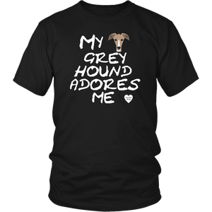 Greyhound Adores Me T-Shirt Black