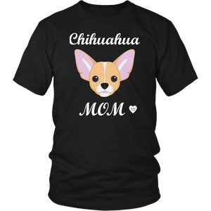 chihuahua mom black t-shirt