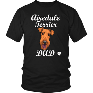 Airedale Terrier Dad T-Shirt Black