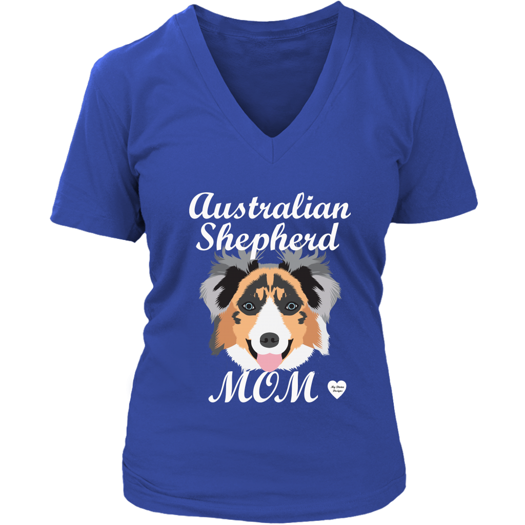 australian shepherd mom shirt royal blue