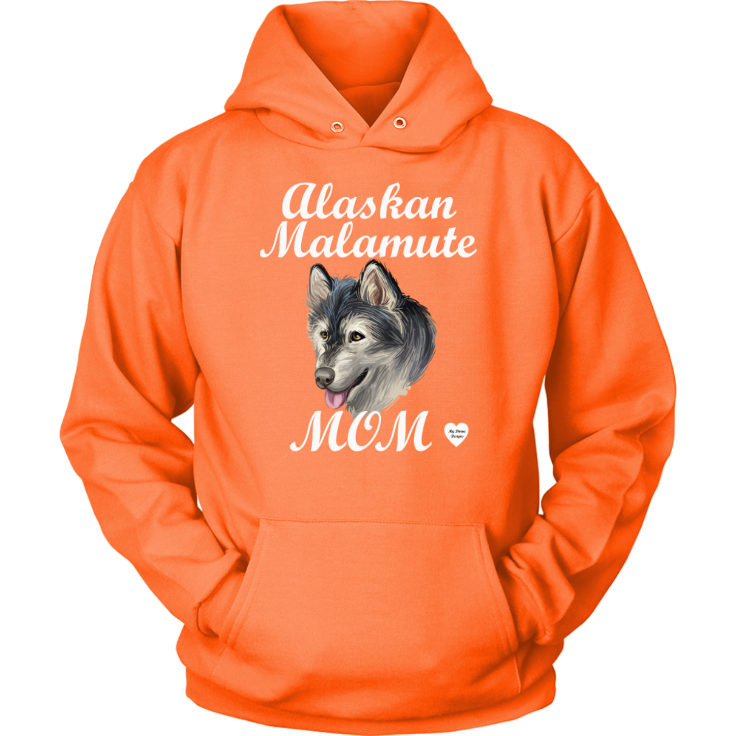 Alaskan Malamute Mom Hoodie Orange