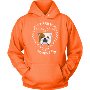 English Bulldog Best Friends Forever Neon Orange
