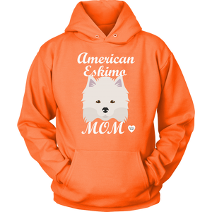 american eskimo mom hoodie orange