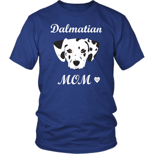 dalmatian mom t-shirt royal blue