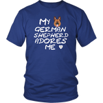German Shepherd Adores Me T-Shirt Royal Blue