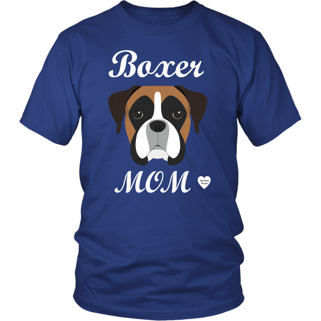 boxer mom royal blue t-shirt