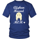 Afghan Hound Mom T-Shirt Royal Blue