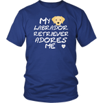 Labrador Retrieve Adores Me T-Shirt Royal Blue