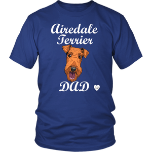 Airedale Terrier Dad T-Shirt Royal Blue