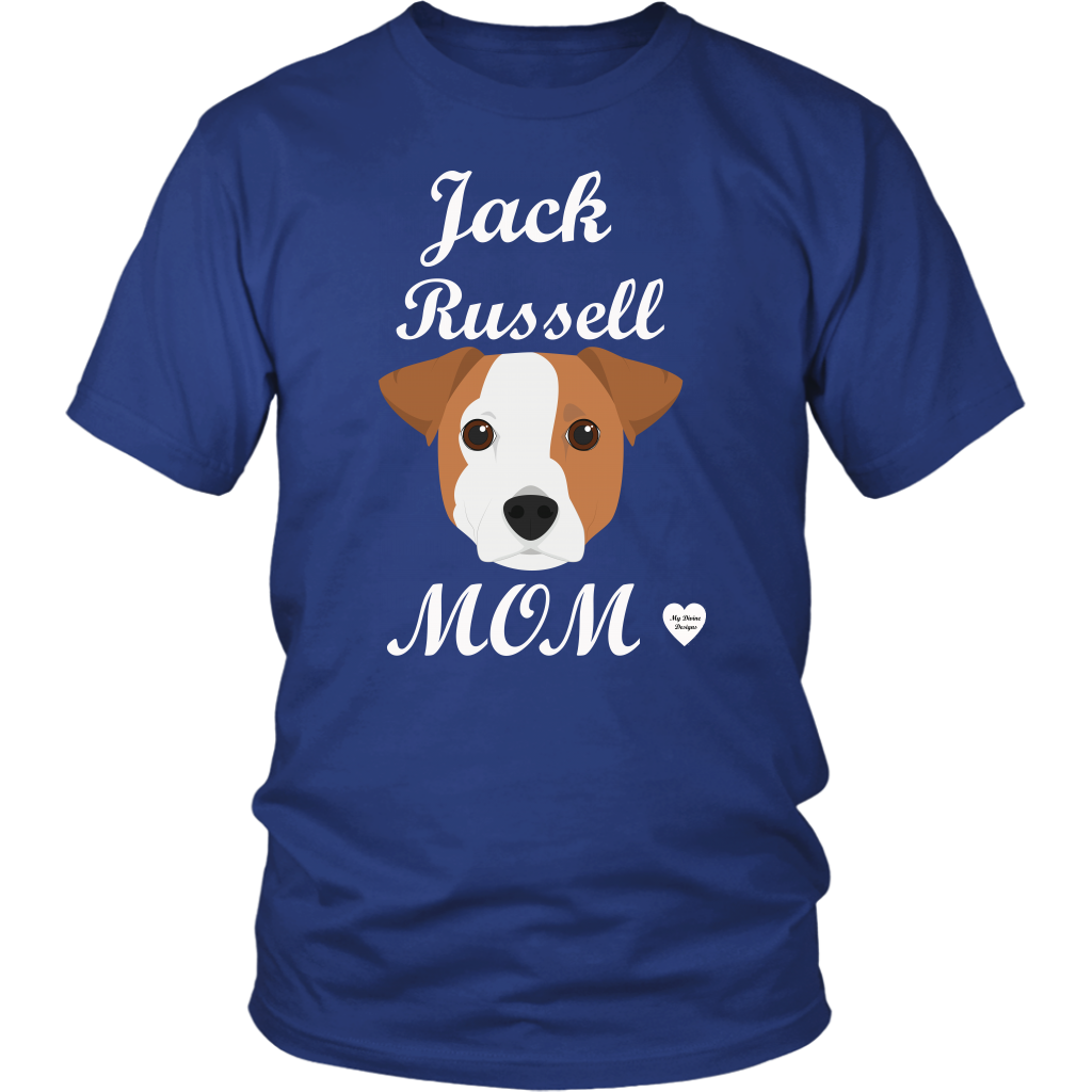jack russell mom t-shirt royal blue