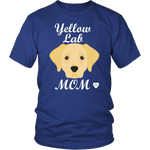Yellow Lab royal blue t-shirt