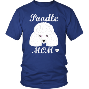 Poodle Mom royal blue t-shirt