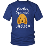 cocker spaniel mom t-shirt royal blue