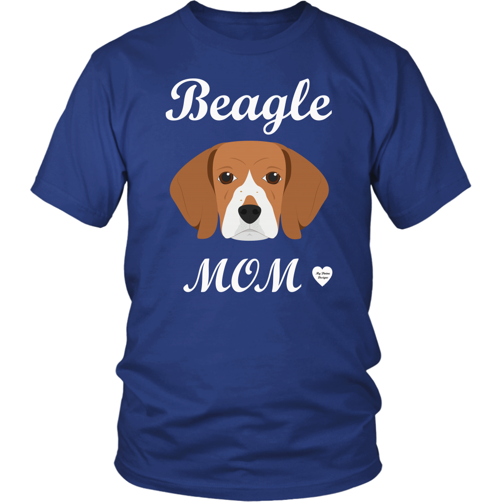 beagle mom t-shirt royal blue