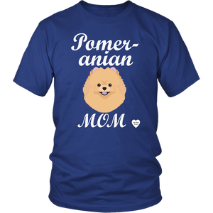 pomeranian mom t-shirt royal blue