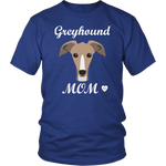 greyhound mom royal blue t-shirt