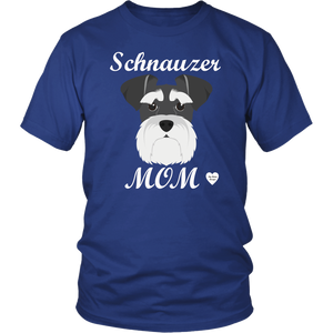 Schnauzer Mom royal blue t-shirt