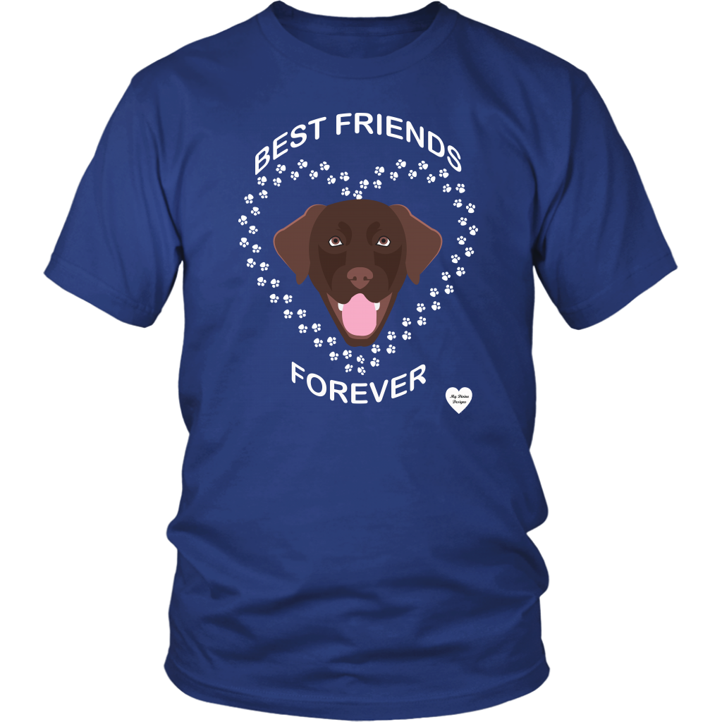 Chocolate Lab Best Friends Forever T-Shirt