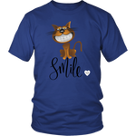 Smile Cat T-Shirt Royal Blue