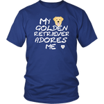 Golden Retriever Adores Me T-Shirt Royal Blue