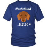 dachshund mom royal blue t-shirt