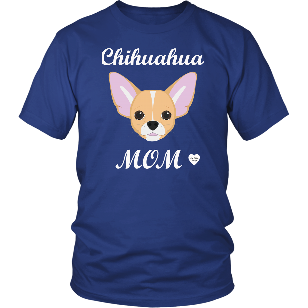 chihuahua mom royal blue t-shirt