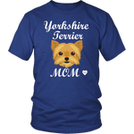 yorkshire terrier mom t-shirt royal blue
